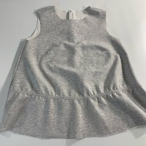 Tops - Structured Sleeveless Gray Peplum Top One Size